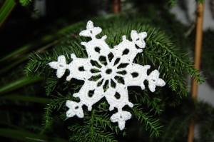 śnieżynka na szydełku