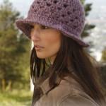 Wzór czapki, kapelusza na szydełku