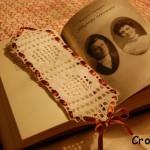 Walentynkowa zakładka do książki na szydełku