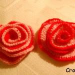 Różyczki na szydełku