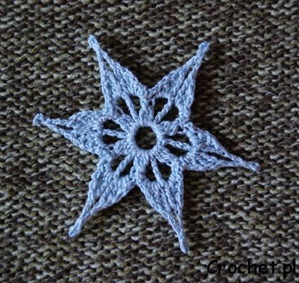 Gwiazdka na szydełku
