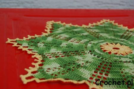 Serwetka z zielonego melanżowego Maxi