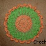 Serwetka na szydełku w kolorach jesiennych