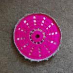 Podstawka z płyty CD na szydełku