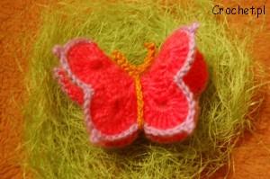 motylek na szydełku