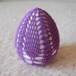 Wielkanocna pisanka na szydełku