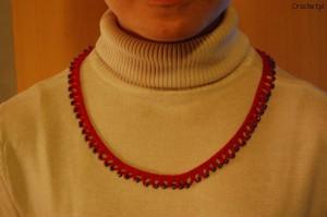 Naszyjnik na szydełku