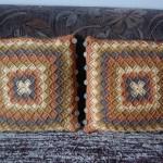 Kolejny komplet poduszek bavarian crochet