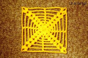 Kwadratowy element na szydełku