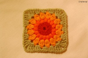 sunburst granny square