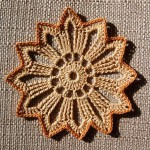 Element na szydełku – kwiatek