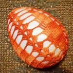 Wielkanocne jajko na szydełku