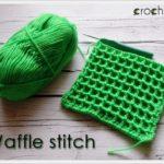 Waffle stitch – czyli splot waflowy