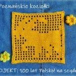 Poznańskie koziołki – 7 kwadrat do szydełkowego kocyka